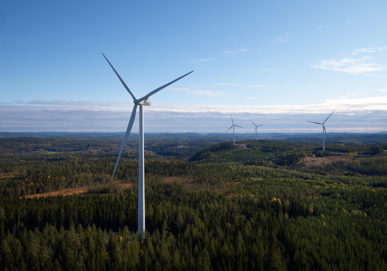 Vindkraft. Förnybar energi.