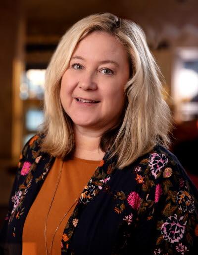 Stina Danielsson, personaldirektör. Senior Vice President Human Resources.