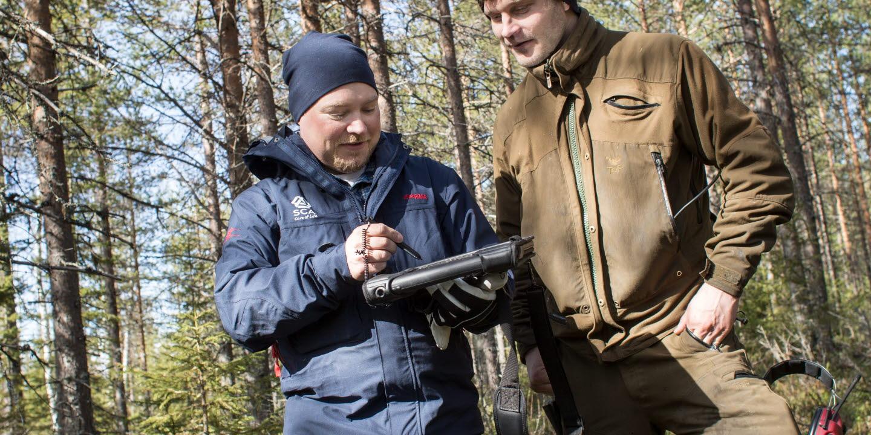 Skogsvinge, Helge Hedlund, Erik Tepsa, laserskanning, skog, skogsägare, virkesköpare, forest, wood purchasers, forest owner, laser scanning, SCA Skog
