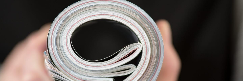 Magazine tryckta på papper från Ortviken.