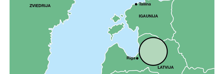 Karta över skogsinnehav i Lettland lettiska