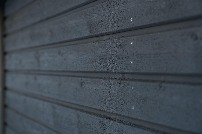 Outdoor cladding, sauna, black