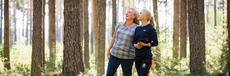 Virkesköpare och skogsägare, Mimmi Almqvist och Victoria Bäckström