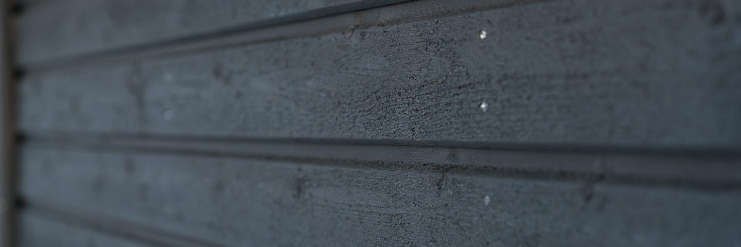 Outdoor cladding, sauna, black