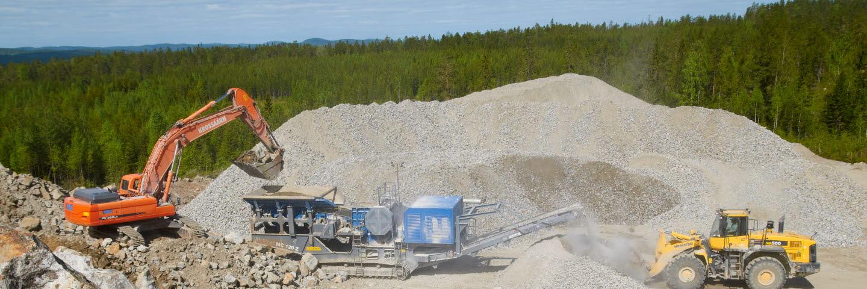 Bergeforsens bergtäkt, SCA Krossprodukter, SCA Skog, SCA Forest Products.