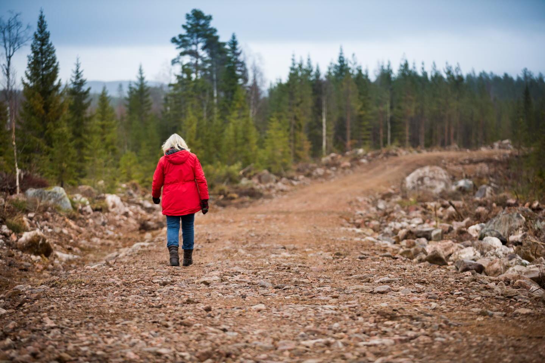 Birgitta Velander, skogsägare som byggt skogsbilväg