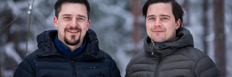 Virkesköpare Daniel Molin och Tobias Molin