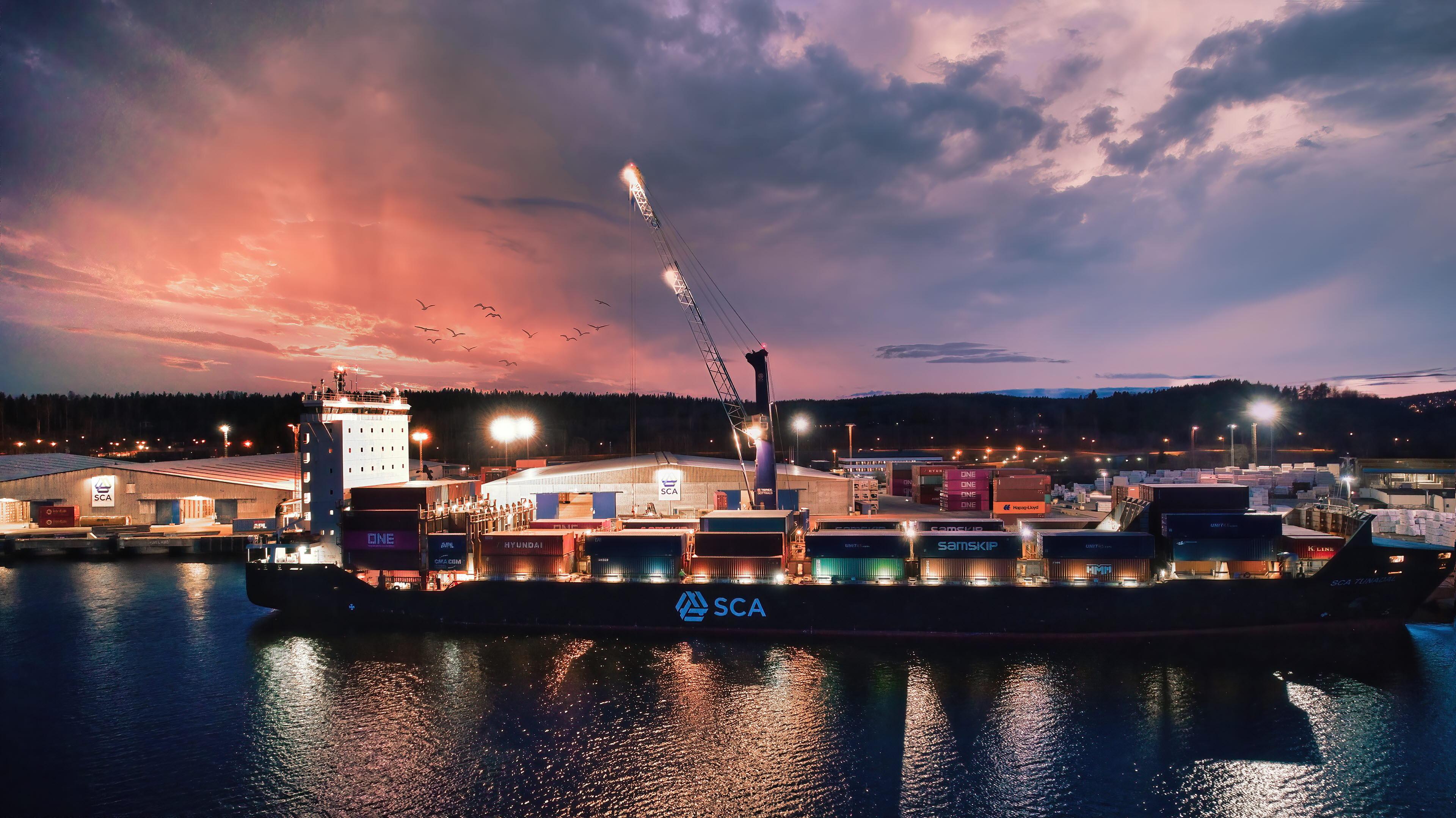 Fartyg container SLS