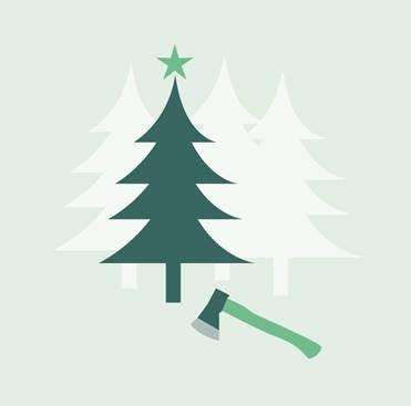 Illustration jul i skogen