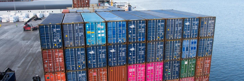 Containerhantering Logistics Sundsvall.