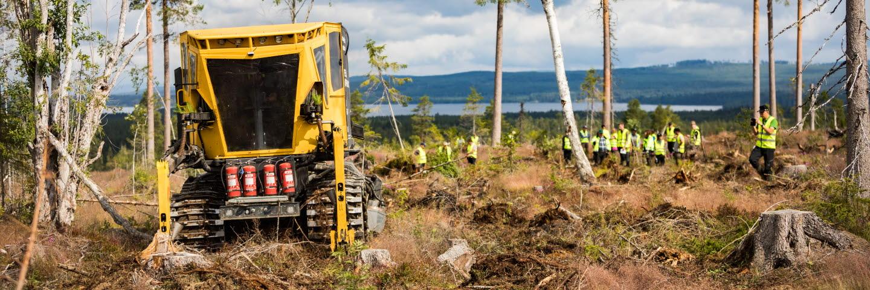 Plantma X, SCAs testkörning av maskin för markberedning och plantering