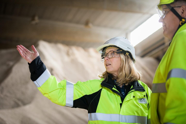 Pelletstillverkning hos BioNorr i Härnösand.