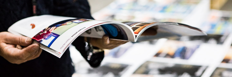 rycksaker som trycks på papper från SCA Ortviken. OBS! Bilden visar inte SCA-anställda.