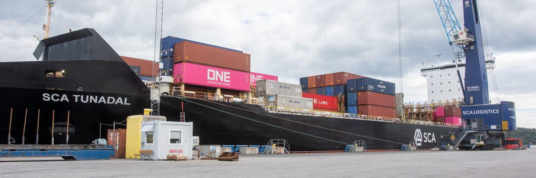 SCAs containerfartyg Tunadal.