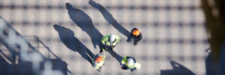 Medarbetare på hamnplanen, SCA Logistics Sundsvall.