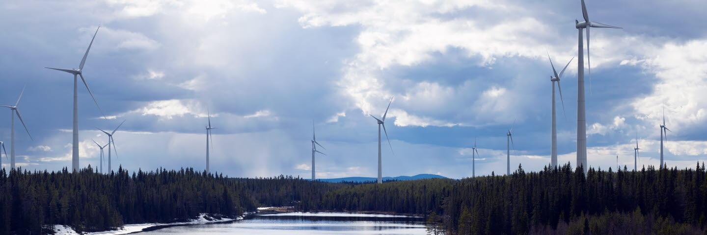 Vindkraft. Windmill. Förnybar energi.