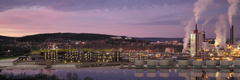 Bild som visar hur SCAs bioenergianläggning vid Östrand kommer att se ut.