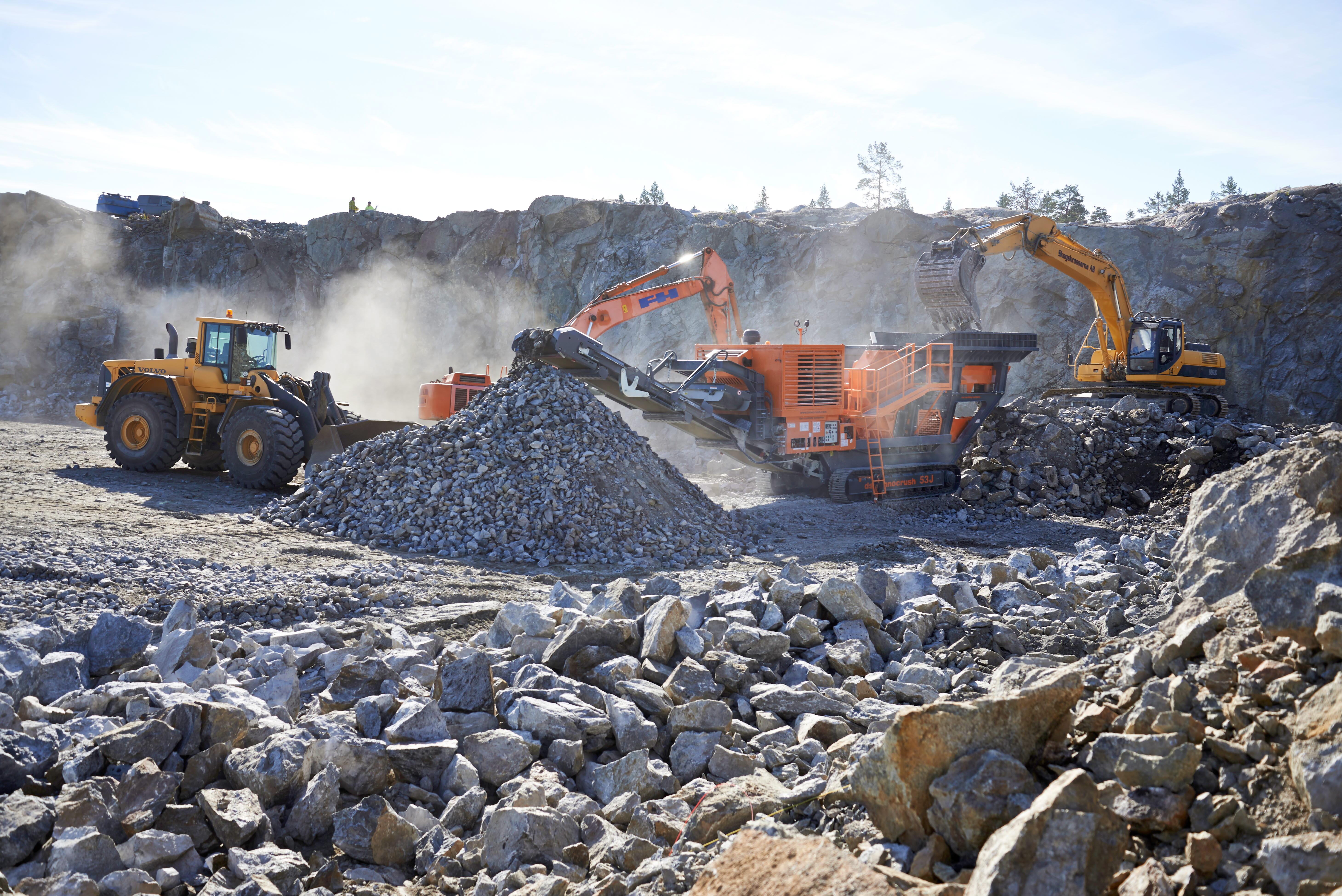 Bergeforsens bergtäkt, Krossprodukter, SCA Skog, SCA Forest Products.