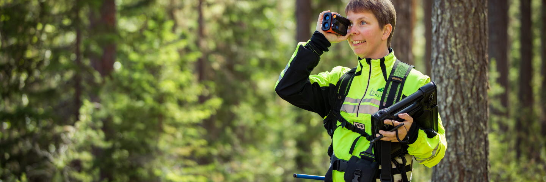 Erica Hästdahl, skogsbruksplanläggare, Bränna Natur